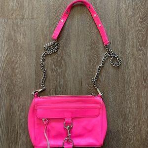Rebecca minkoff neon pink crossbody bag